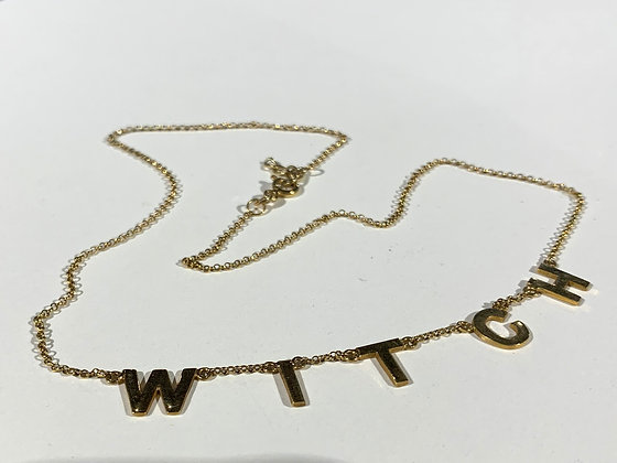 BITCH OR WITCH necklace