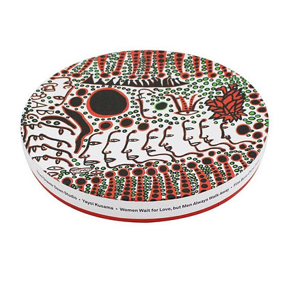 Women Wait For Love, But Men Always Walk Away Ceramic Plate x Yayoi Kusama