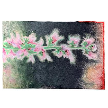 SINGLE PINK FLOWER carpet