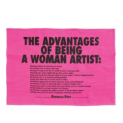 Advantages Of Being A Woman Artist- Tea Towel x Guerrilla Girls