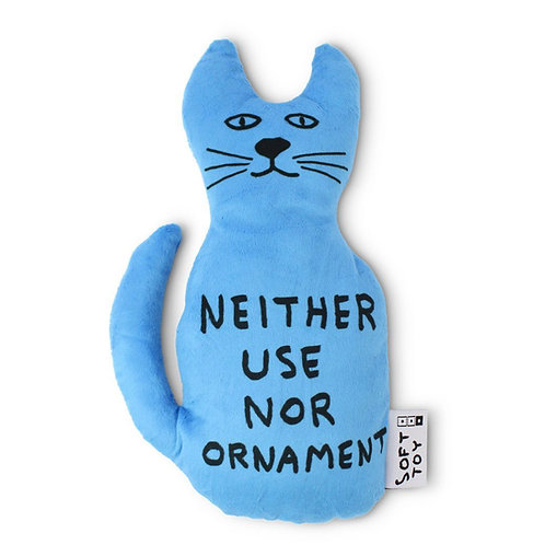 Neither Use Nor Ornament Cat by David Shrigley