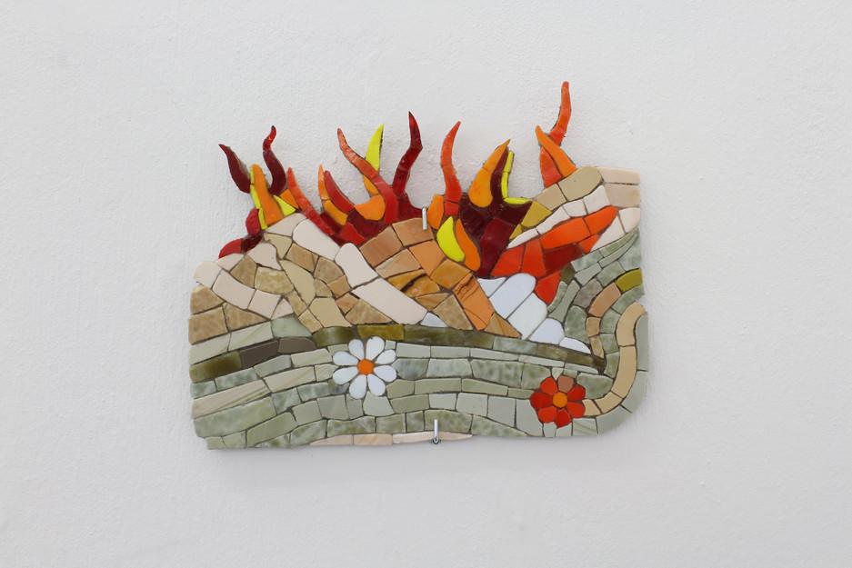 Fire Behind hills