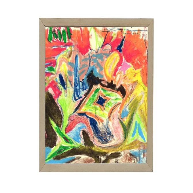 pastel on paper, 30x25cm