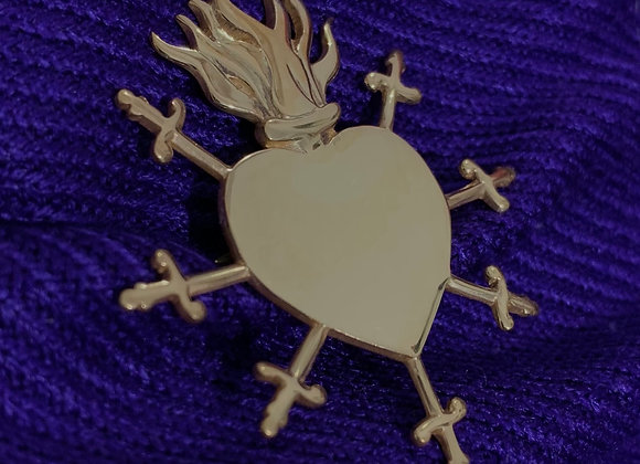 Sacred heart Brooches