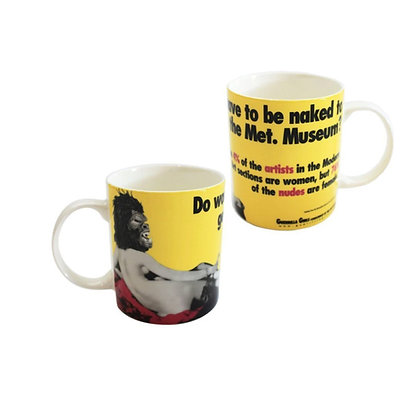 Do Women Have to be Naked Mug by Guerrilla Girls