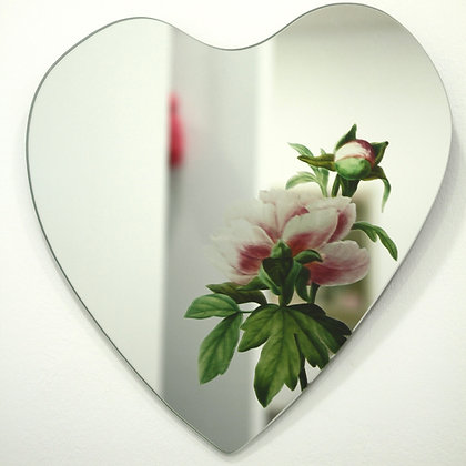 Only Peonies Know My Secrets Heart Mirror
