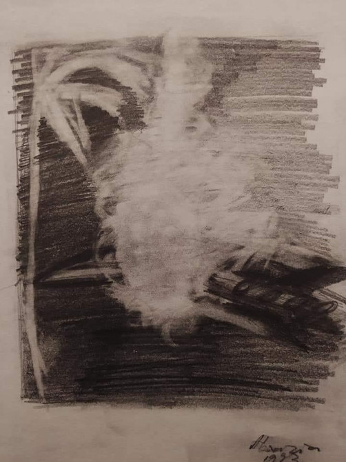 Charcoil on paper,26x19cm