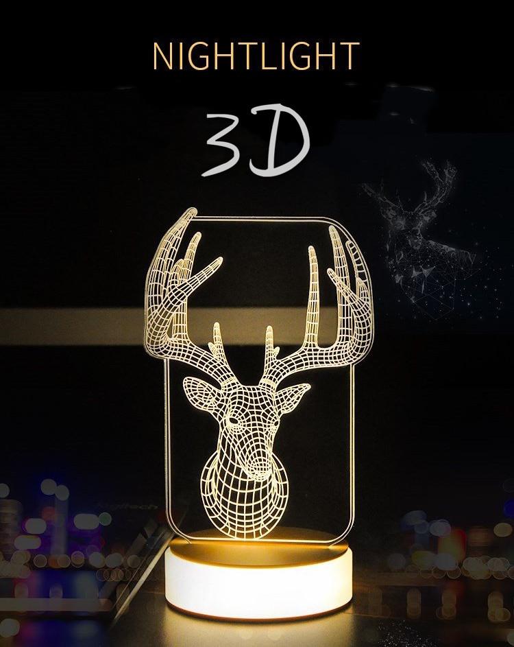 3D LED night light