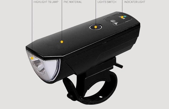 3588 MICRO USB CHARGING SPEAKER BICYCLE LIGHT