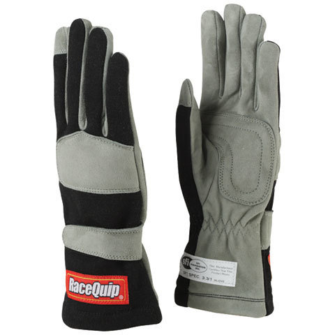 Gloves Single Layer Medium Black SFI
