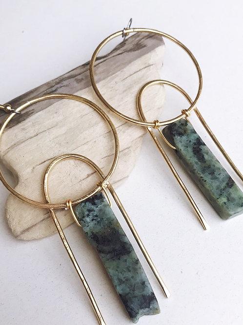 Turquoise Moon Rise Earrings