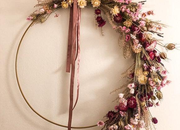 Wreath droogbloemen