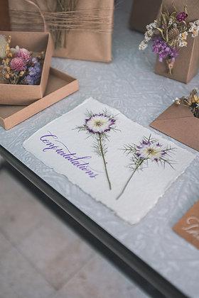 DIY pakket kaartjes droogbloemen
