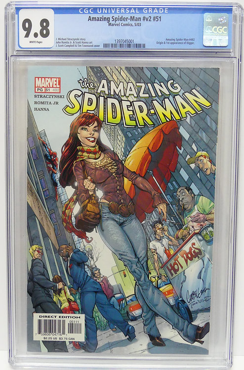 Amazing Spider-Man #v2 #51 CGC 9.8 - 1st Appearance of Digger