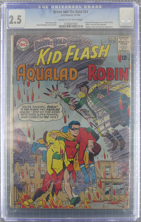 Brave and the Bold #54 CGC 2.5 - Origin and 1st Appearance of Teen Titans