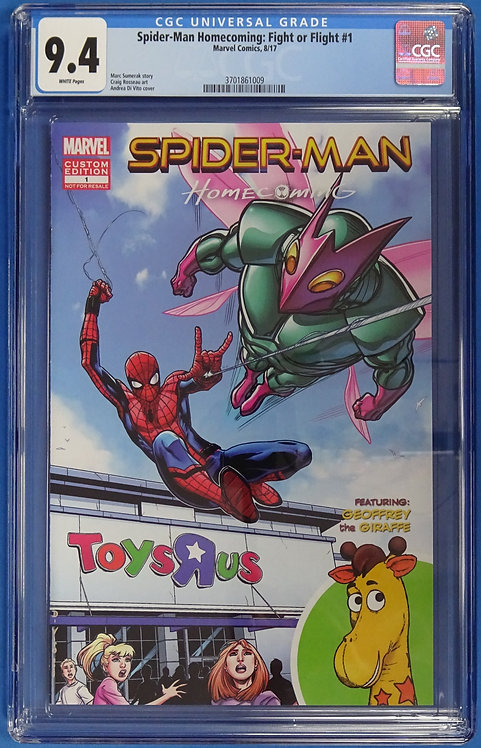 Spider-Man Homecoming: Fight or Flight #1 CGC 9.4 - Toys R Us Rare Exclusive