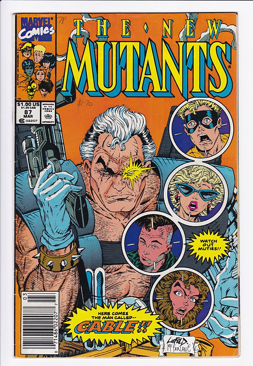 New Mutants #87 - 1st Appearance of Cable (Newsstand)