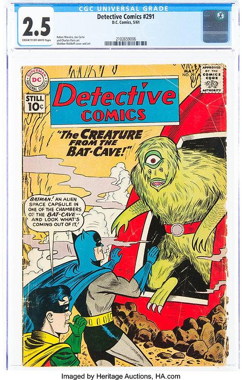 Detective Comics #291 CGC 2.5 (1961)