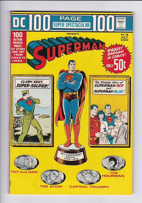 DC 100 Page Super Spectacular #18 - Featuring Superman, The Atom & More! (1973)