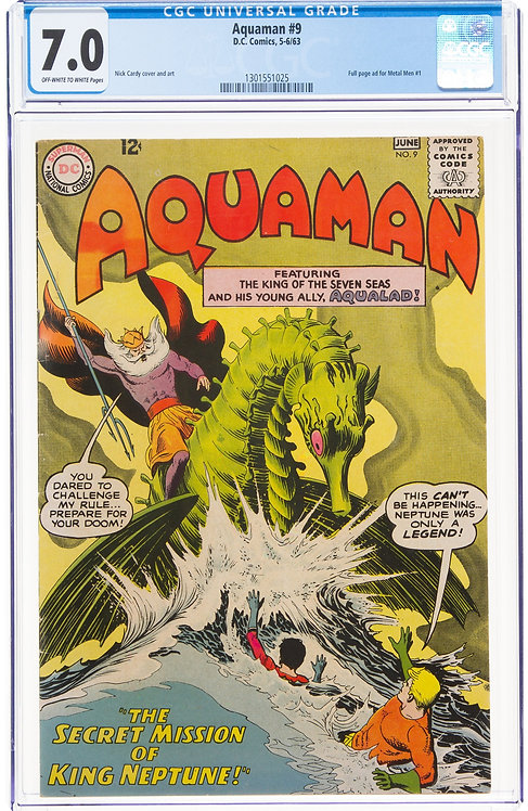 Aquaman #9 CGC 7.0 - Nick Cardy cover and art (1963)