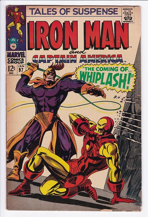 Tales of Suspense #97 - 1st Appearance of Whiplash (Iron Man 2)