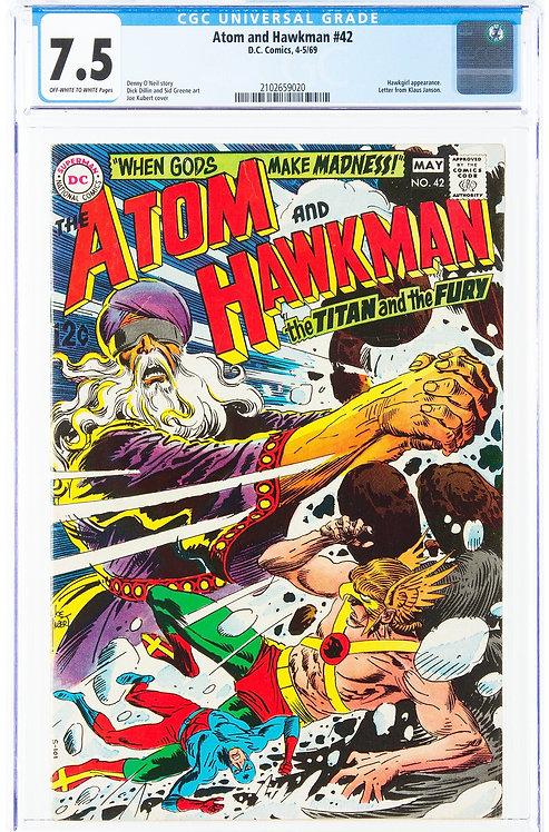 The Atom and Hawkman #42 CGC 7.5 (1969)