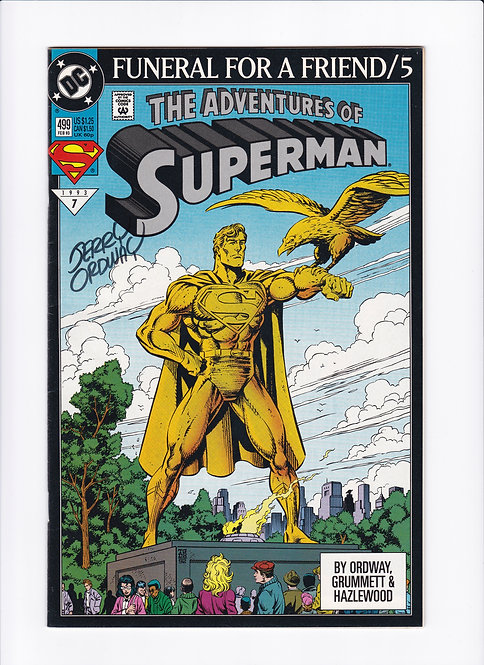 Adventures of Superman #499 - Signed by Jerry Ordway