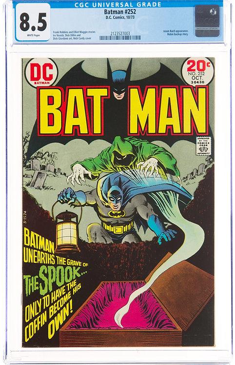 Batman #252 CGC 8.5 - Spook Cover!
