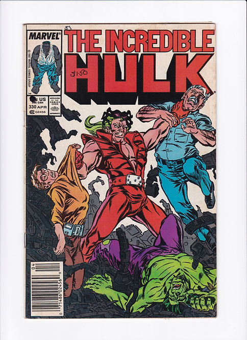 The Incredible Hulk #330 - McFarlane Art Begins! (Low grade)