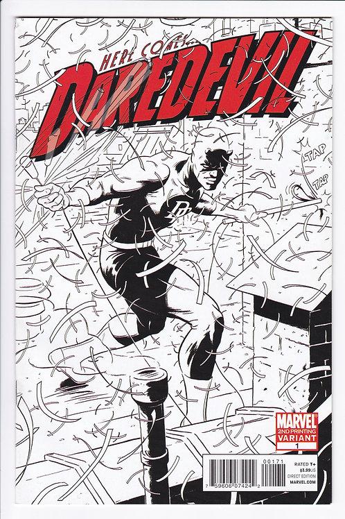 Daredevil #1 2nd Printing Variant (2011)