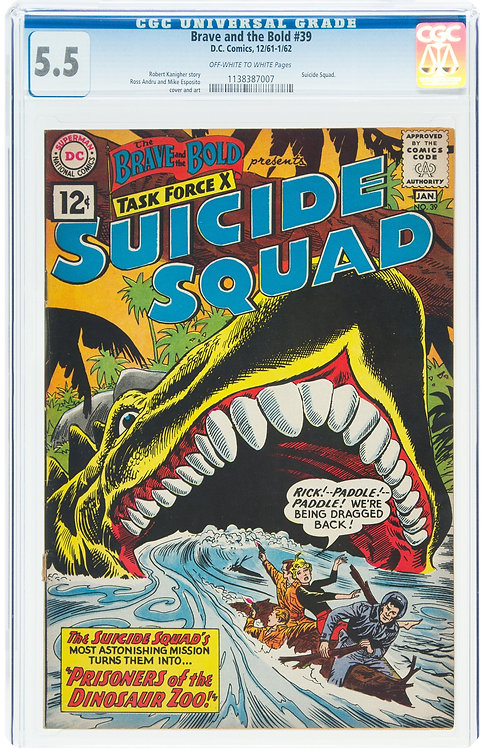Brave and the Bold #39 Suicide Squad CGC 5.5 (1962) - Early Suicide Squad
