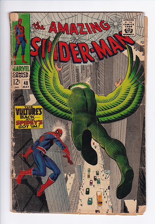 Amazing Spider-Man #48 - 1st Blackie Drago Appearance as the new Vulture