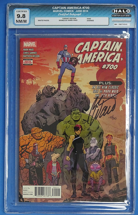Captain America #700 Variant Cover HALO 9.8 - Signed by Mark Waid