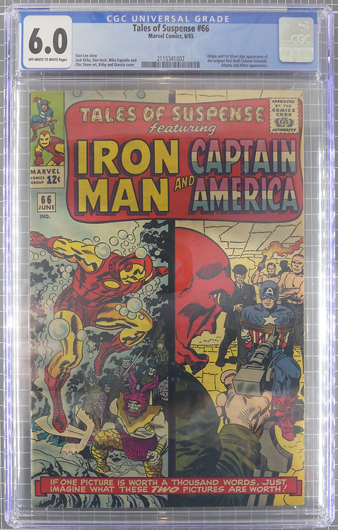 Tales of Suspense #66 CGC 6.0 - 1st Silver Age Appearance of Red Skull!