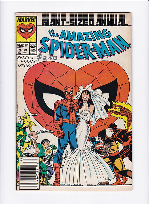Amazing Spider-Man Annual #21 - Peter Parker marries Mary Jane Watson