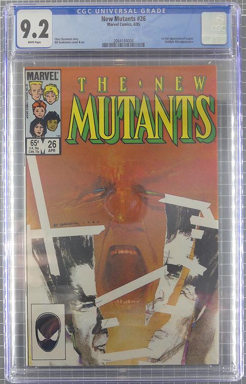 New Mutants #26 CGC 9.2 - 1st Full Appearance of Legion