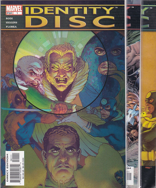Identity Disc #1-5 Complete 5 Part Series (2004) - Featuring Deadpool