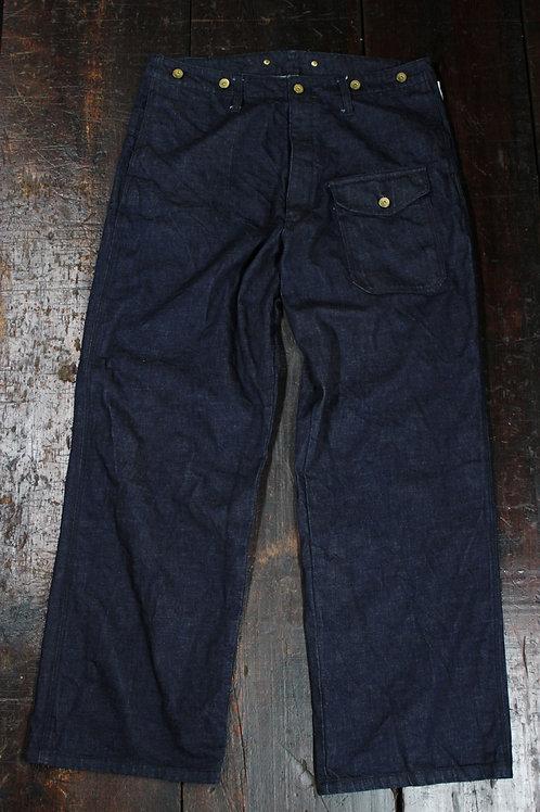 typeBRP reedman pants indigo/white
