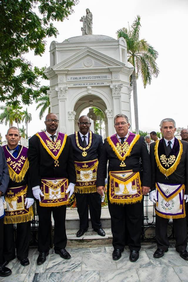 Celebraciones por El 160 Aniversario de la Gran Logia de Cuba   Cementerio de Santa Ifugenea