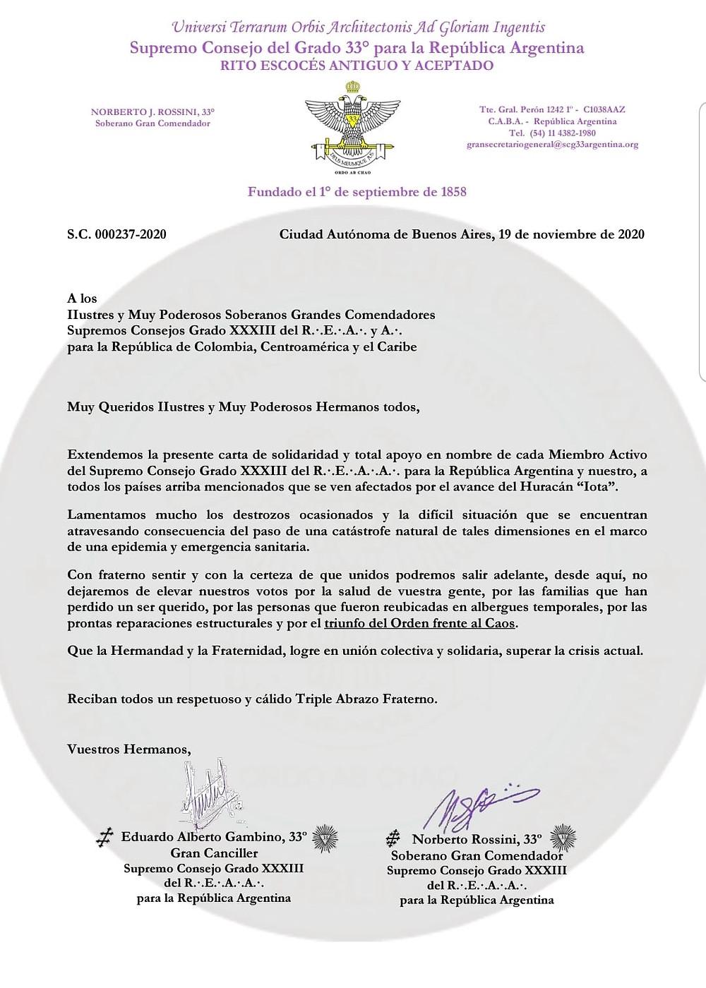 Supremo Consejo GRADO 33 del REAA para la República Argentina | Colombia, Centroamérica e Caribe
