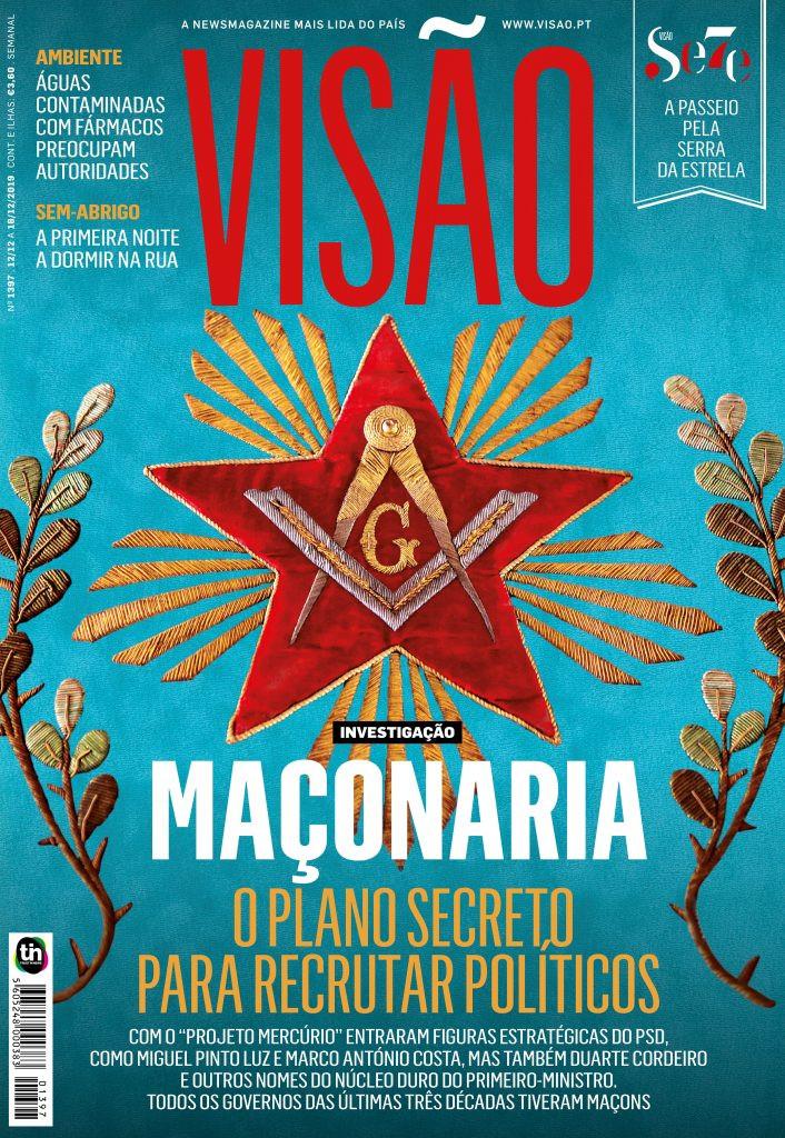 Título da Revista Visão: - Projeto Mercúrio: o plano secreto da maçonaria para recrutar políticos