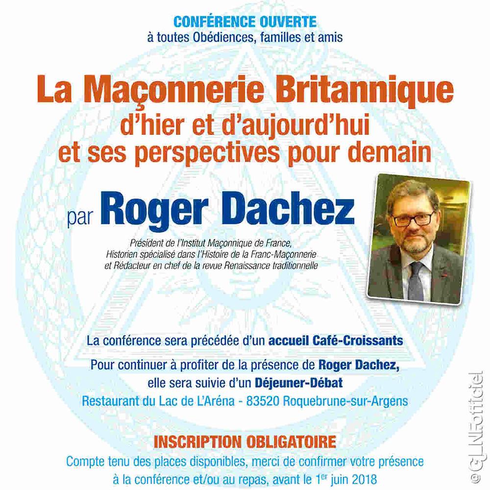 La Maçonnerie Britannique, par Roger Dachez | 01.06. 2018