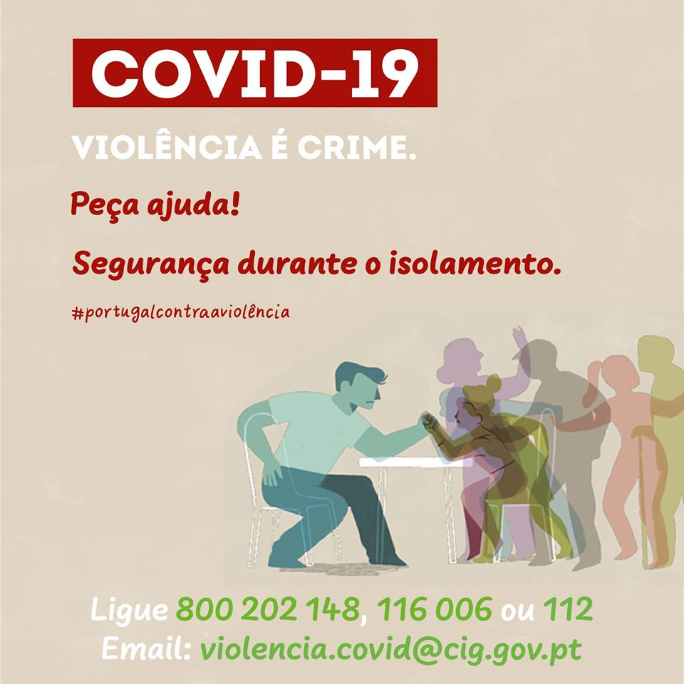 COVID-19 - Violência é crime | Peça ajuda | Não hesite!