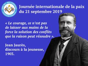 21 septembre Journée Internationale de la Paix – communiqué de la Fédération française du DH