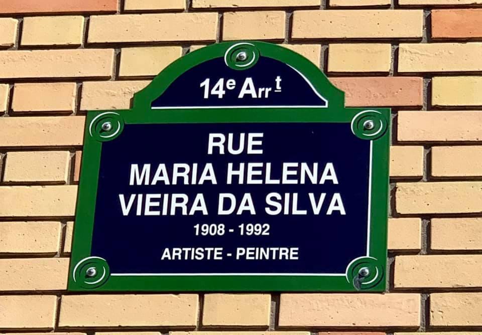 A pintora portuguesa Helena Vieira da Silva tem uma rua em Paris | França