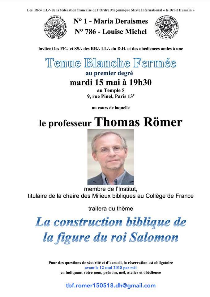 Tenue Blanche Fermée   15.05.2018   18H30   Paris, France