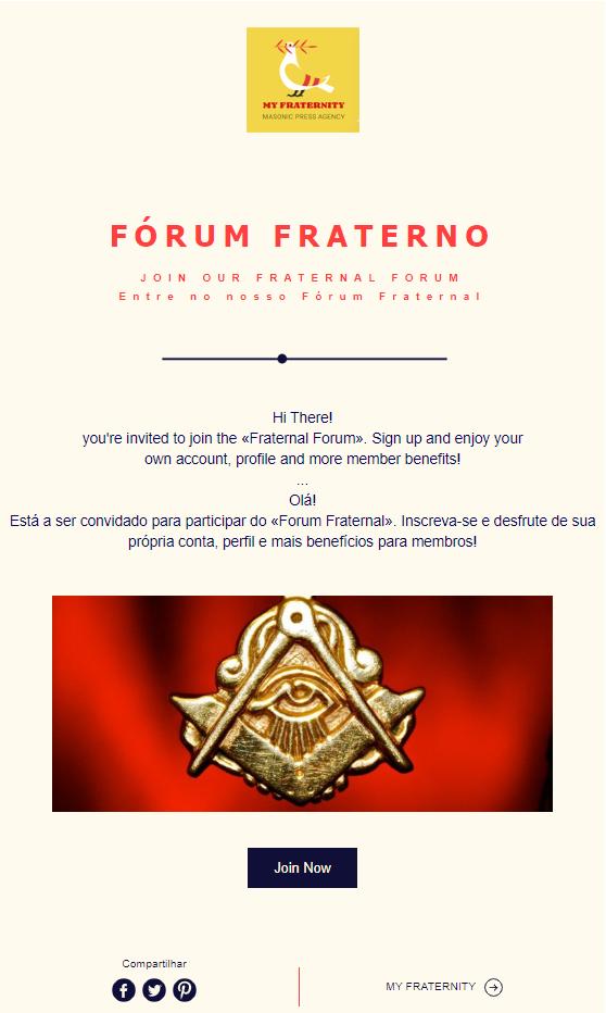 My Fraternity - Está a ser convidado para participar no Fórum | Join our Fraternal Forum |  Entrada - Enter
