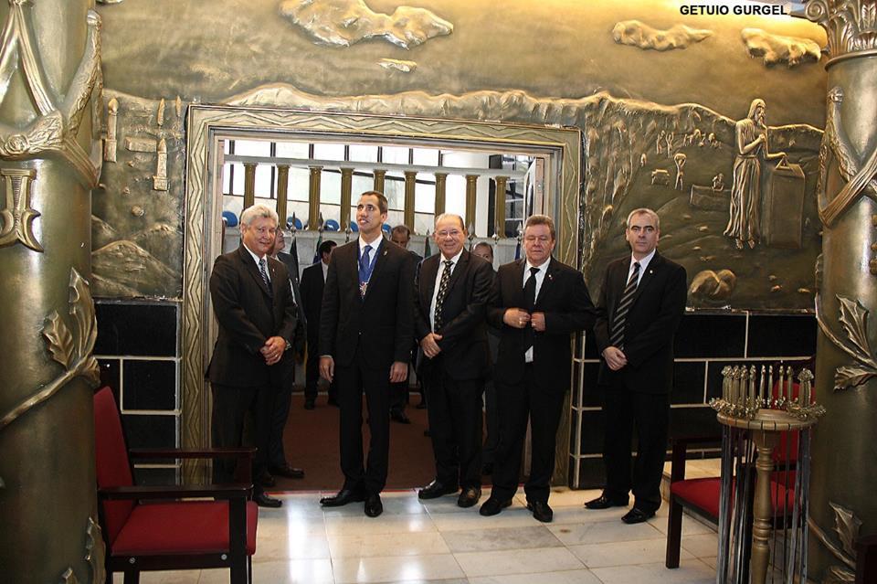 Irmãos brasileiros receberam o Irmão Juan Guaidó | Brasil | Imagens