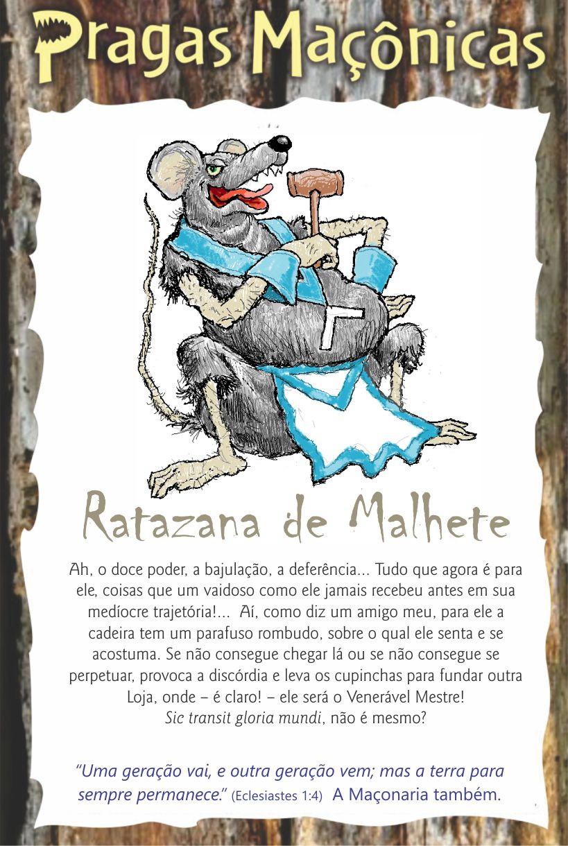 Cartoon: - Pragas Maçônicas | Ratazana de Malhete