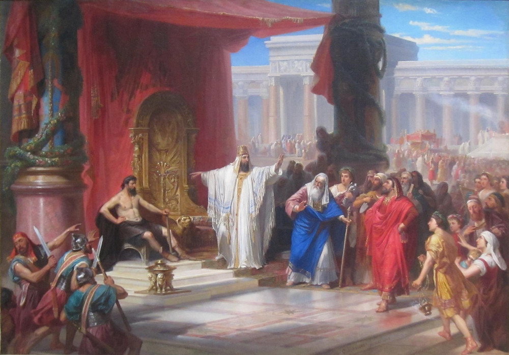 The iron worker and King Solomon / the original painted by Prof. C. Schussele